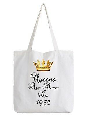 Queens Are Born In 1952 Birthday Tote Bag Funny Gift 66th Sixty Six Shopper
