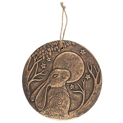 Moon Gazing Hare Wall Plaque - Gold/bronze Finish -  Lisa Parker Design  Pagan