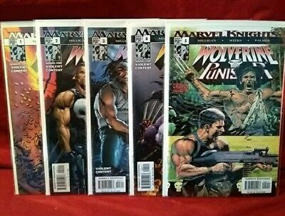 WOLVERINE PUNISHER #1 2 3 4 5 Complete Set VF/NM to NM - Marvel Knights