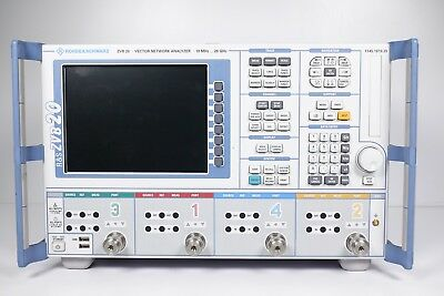 Rohde Schwarz ZVB20 Vector Network Analyzer 10 MHz to 20 GHz, 4 Ports