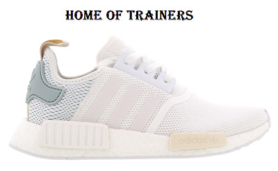 best sneakers aa9fb bc867 ADIDAS NMD R1 Ftw White-Tactile Green Women's Trainers All Sizes