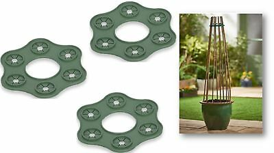 Cane Wigwam Garden Bamboo Cane Plant Support Structure Holder Pea Bean Cage x 3