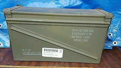 US ARMY Military Surplus 40MM Ammo Can Box Great Shape