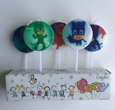 Pj Masks Candles 5 Piece Pack Happy Birthday Decorations Birthday Cake Candle