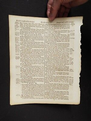 1769 Leaf from the Revised Standard Oxford Edition by Dr. Benjamin Blayney