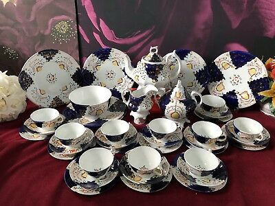 Early Victorian Gaudy Welsh/Dutch Extensive Tea Service
