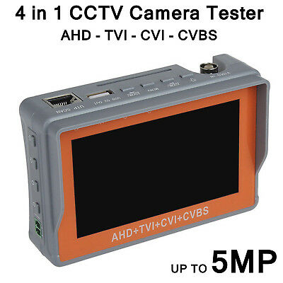 Cctv Camera Tester Tool 5Mp 4In1 Tvi Ahd Cvi Cvbs Lcd Display Bnc Ptz Control Uk