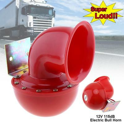 Electric Loud 12V 115dB Bull Motorcycle Air Horn Car Boat Speaker Trumpet Red