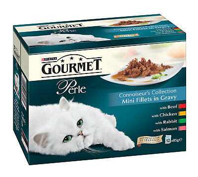 Gourmet Perle Cat Food Multipack Connoisseur Collection Mix Flavour 12x85g Pouch