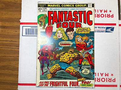 Fantastic Four #129 (Marvel, December 1972) FIRST appearance of Thundra
