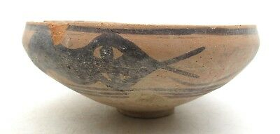 Ancient Indus Valley Terracotta Bowl W/ Snake - Rare Artifact Lovely - L556