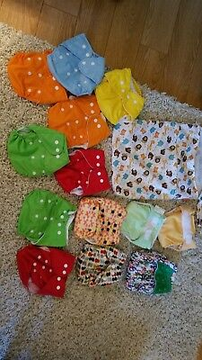 mixed lot cloth diapers wet bags