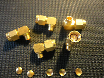 5Pcs Sealectro  55-611-3703-31 Sma Gold Right Angle Connector