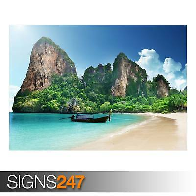 BEACH (AD926) NATURE POSTER - Photo Picture Poster Print Art A0 A1 A2 A3 A4