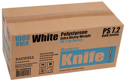 "1,000 Heavy Weight 7.5"" White Plastic Knives (A10001152) - Free Shipping"