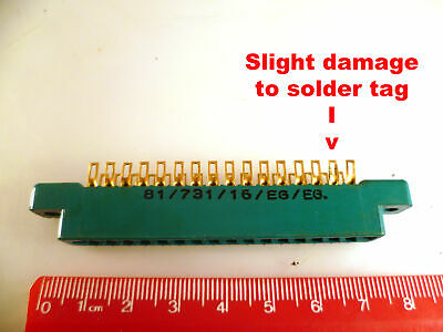 "Cinch 81/731/16/EG Edge Connector 16 Way Solder Tag 0.156""/3.96mm Pitch OM0967L"