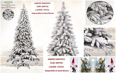 Tree Christmas Ortisei Cm.240 High Quality Slim-Slim Thickening and Snowy with