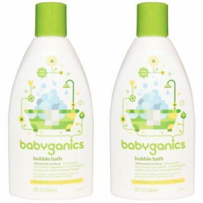 Lot of 2 - BabyGanics Bubble Bath Extra Gentle Chamomile Verbena Tear Free 9 oz