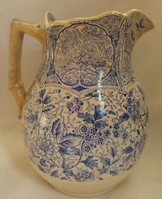 Staffordshire Blue Transfer Cashmere Aesthetic Movement Pitcher