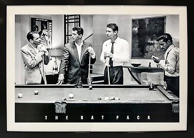 The Rat Pack Framed Photography Billiards Sports Decorative Home