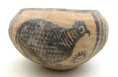 Indus Valley Terracotta Jar W/ Birds  - Rare Ancient Artifact Lovely - L569
