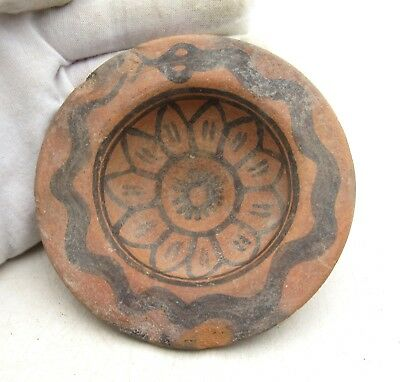 Ancient Indus Valley Terracotta Bowl W/ Snake - Rare Artifact Lovely - L573