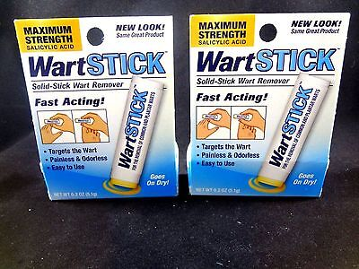 2 WartStick For the Removal of Common and Plantar Warts Salicylic Acid - 5.1g