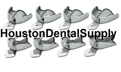 8 Dental Impression Trays SOLID Stainless Steel METAL Autoclavable