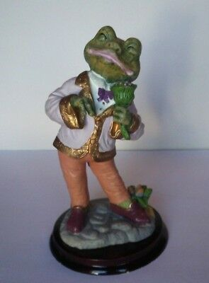 "Frog In Tuxedo Holding Flowers 8"" Handsome Figurine"