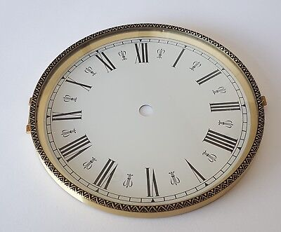Brass Clock Bezel and Glass 160mm Roman Dial