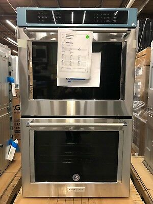KitchenAid 30 In. Double Electric Convection Wall Oven Self Clean    KODE500ESS