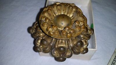Gorgeous Large Antique Vtg Brass Bronze Ormolu Repousse Drawer Pull Knob No1