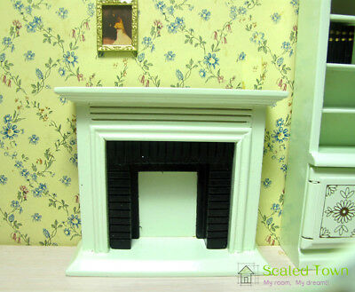 Dollhouse Miniature Furniture White Fireplace 1/12 Scale Model Toy Room Decor