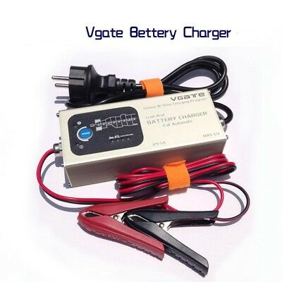 Battery Charger Fully Automatic Smart Lead Acid 12V 5A Temperature Compensation