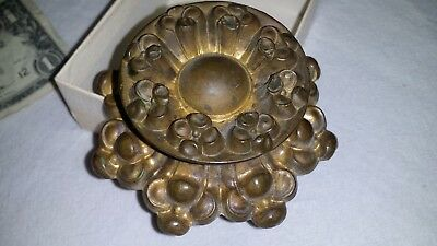 Gorgeous Large Antique Vtg Brass Bronze Ormolu Repousse Drawer Pull Knob No6