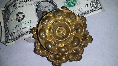 Gorgeous Large Antique Vtg Brass Bronze Ormolu Repousse Drawer Pull Knob No7