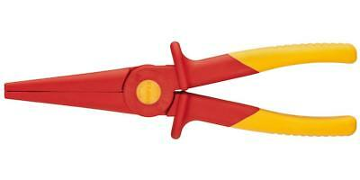 KNIPEX Tools 98 62 02 Flat Nose Plastic Pliers 1000V Insulated, Red/Yellow