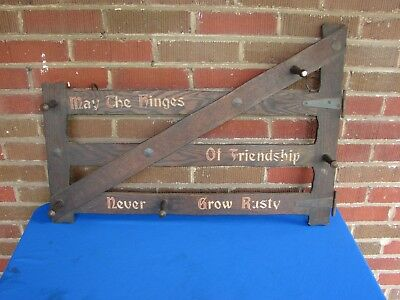 Antique Arts & Crafts Mission Oak Wall Mount Hat Coat Rack Stickley Roycroft Era