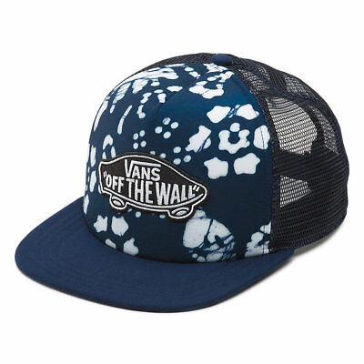 12bc22f3ea2 Brand New Vans Classic Patch Adjustable Snapback Trucker Plus Hat Trippin  Blue