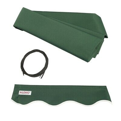 ALEKO Fabric Replacement For 16x10 Ft Retractable Awning Green Color