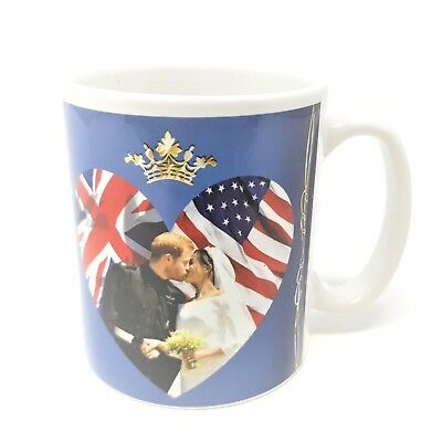 Royal Wedding 2018 Mug Prince Harry Meghan Markle Kiss Souvenir Cup Love Heart