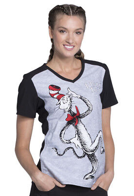 3c7ef89e21d Women's Tooniforms 100% Cotton Medical Scrub Dr. Seuss Character Top  TF637-SENT