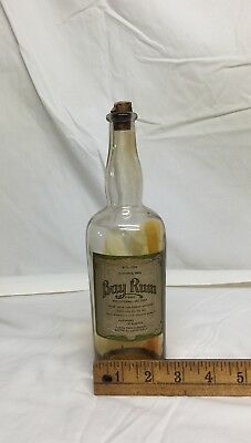 Antique Glass Bay Rum Bottle