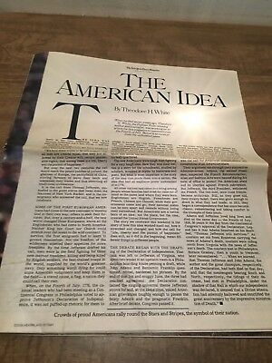The New York Times Magazine: The American Idea  July 6, 1986