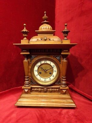 -hac walnut striking bracket clock