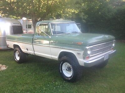 1968 Ford F-250  1968 Ford F250 4x4 Highboy Camper Special Very Rare