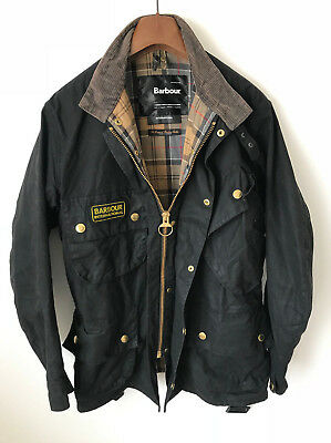 Barbour International Wax Coat/jacket! Mens M/l! Black! 44-46 Chest! Beacon!
