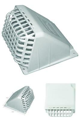"""DEFLECTO 4"""" Dryer Vent Hood White Exhaust Fan Cover Wide Mouth maximum airflow"""