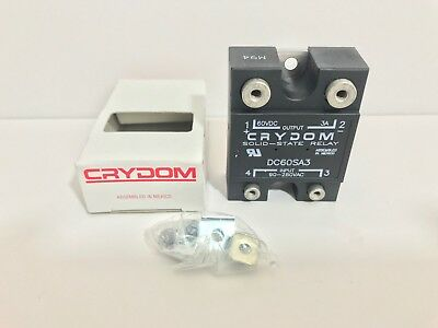 New! Crydom Solid State Relay Dc60Sa3 Input: 90-280 Vac Output: 60 Vdc 3A