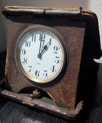 Antique 8-day travel clock Swiss made working